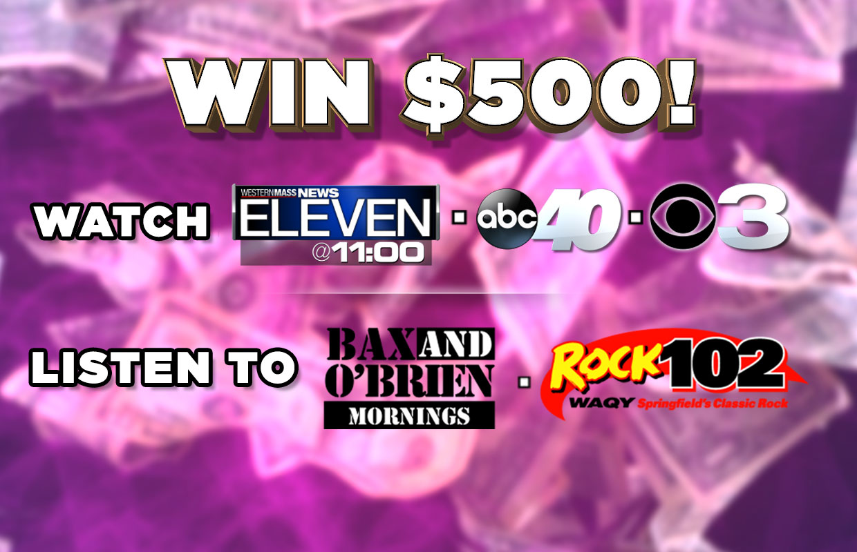 Watch, Listen & Win with Rock 102 & Western Mass News